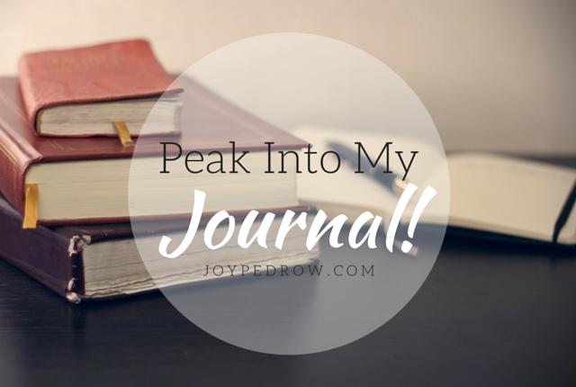 Peak Into My JOURNAL