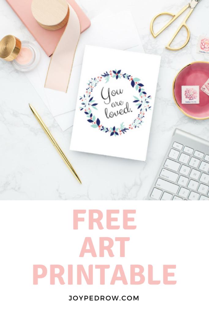 Free Art Printable - JoyPedrow.com